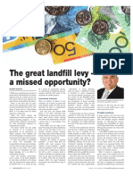 The Great Landfill Levy-Amissed opportunity