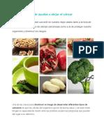 9 Alimentos Que Te Ayudan a Alejar El Cáncer