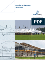 Safe Use and Operation of Marquees and Temporary Structures