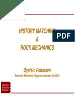 History Matching and Rock Mechanics 20 Years
