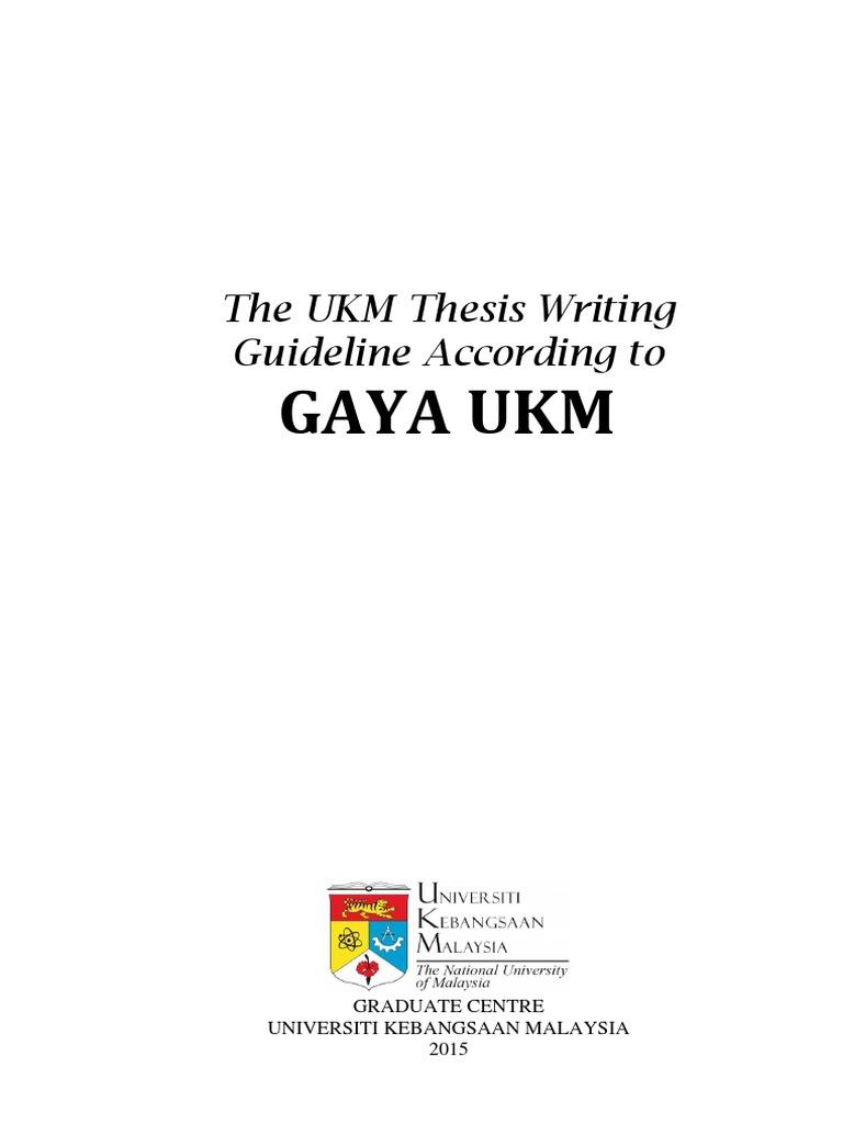 literature review gaya ukm