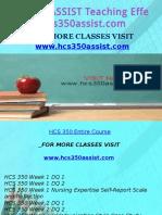HCS 350 ASSIST Teaching Effectively/hcs350assist.com