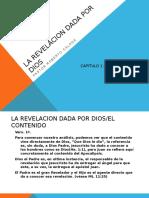 La Revelacion Dada Por Dios.