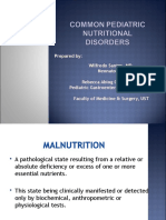 COMMON PEDIATRIC NUTRITIONAL DISORDERS 2015.ppt