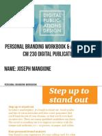 personal branding workbook mangione