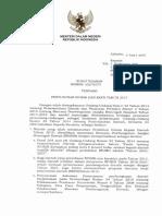 SE Mendagri Penyusunan RPJMD Dan RKPD Tahun 2017