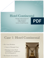 Hotel Continental Case Study