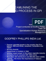 STREAMLINING THE TRAINING PROCESS IN GPI.ppt
