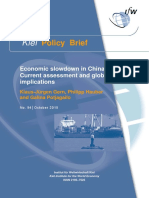 Economic Slowdown in China –Current Assessment and Glabal Implications