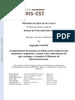 Comportement de Poteaux en Béton Armé Renforcés Par Matériaux Composites, Soumis à Des Sollicitations de Type Sismique, Et Analyse d'Éléments de Dimensionnement.