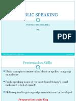 NOTES Public Speaking
