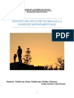 Politici de Incluziune Sociala - Familia Monoparentala