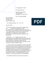 US Department of Justice Civil Rights Division - Letter - lofc72