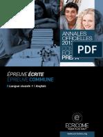 Annale Ecricome Prepa 2013 Anglais Lv1-2