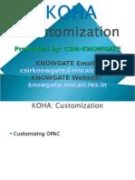 10 KOHA Customization