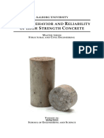 Fatigue Behavior and Reliability of High Strength Concrete