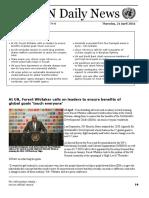 UN Daily News - 21 April 2016