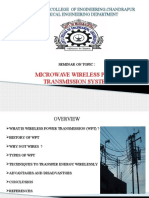 Microwave Wireless Power Transmission System