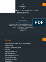 Power Factor Improvement Using Upfc