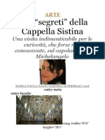 Cappella Sistina - 20 Curiosità