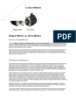 Stepper Motors VsServo Motors
