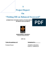 NIMISHA Dissertation Report on Putting Hr on Balanced Scorecard