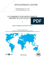 E-commerce for Development Prospects And