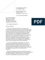 US Department of Justice Civil Rights Division - Letter - lofc78