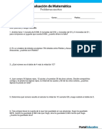 Pruebas Matematicas 3ero Basico