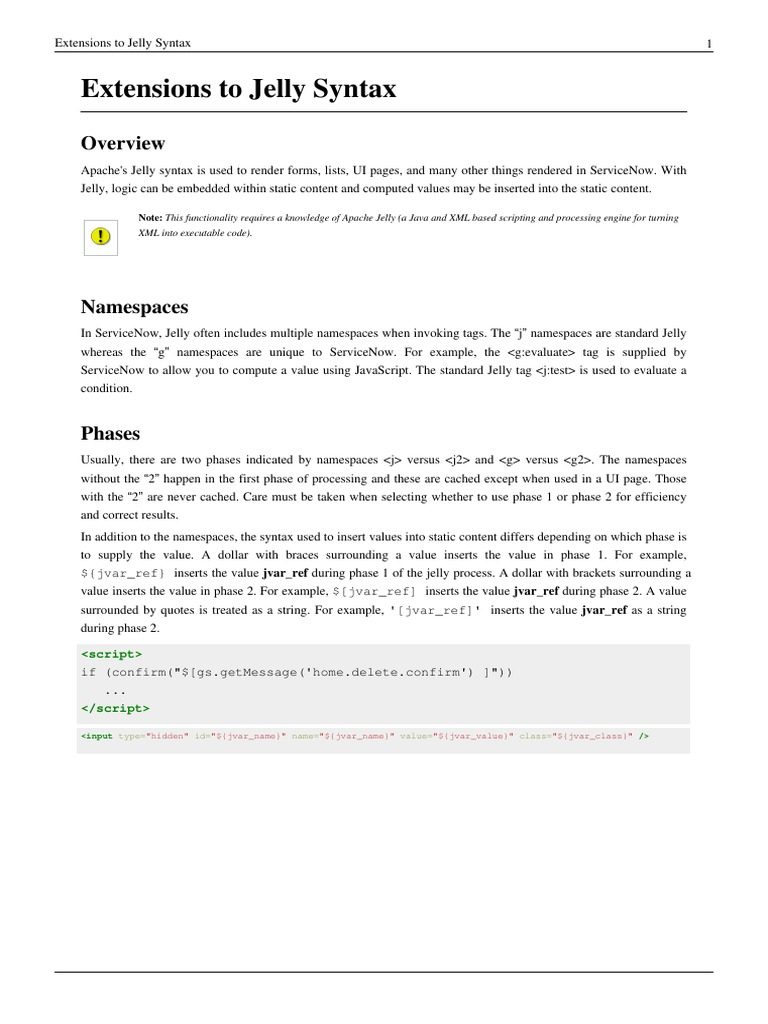 Extensions to Jelly Syntax pdf | Parameter (Computer