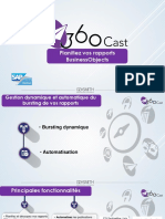 360Cast pour la planification des rapports SAP BusinessObjects