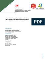 7721005 Welding Repair Procedure