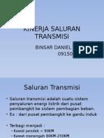 KINERJA SALURAN TRANSMISI
