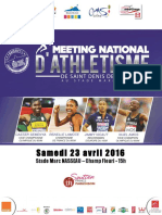 Dossier de Presse Meeting National d'Athlétisme 2016