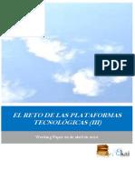 EL RETO DE LAS PLATAFORMAS TECNOLOGICAS (III)