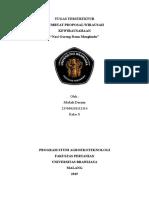 Cover Dan Kata Pengantar Proposal KWU