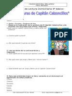 GUIA DE  LECTURACapitan Calzoncillos