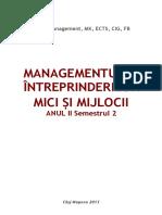 Managementul Intreprinderilor Mici Si Mijlocii