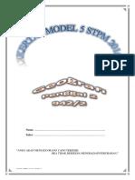 Kertas Model 5 Geografi STPM Penggal 2 2016 (Percubaan Terengganu)