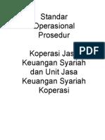 PERMEN 2007 Standard Operating Procedure Kjks Ujks Koperasi