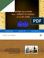 pautas para crear una cultura inclusiva en la escuela