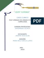 Caso Clinico Postoperado Apendicitis Aguda Complicada