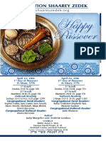 April 23, 2016, Yom Tov Pesach Days 1 & 2
