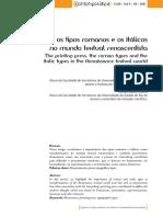 A Prensa, Os Tipos Romanos e Os Itálicos No Mundo Textual Renascentista