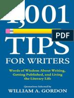 1,001 Tips for Writers - William A. Gordon.pdf