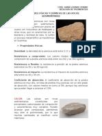 Propiedades Físicas y Químicas de Las Rocas