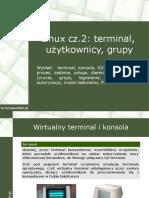 System Linux Cz2 Terminal Uzytkownicy Grupy PL