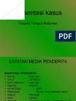 kasus trauma abdomen + ileostomi