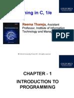 Programming in C 1e