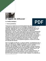 Esteban Rodriguez, El Legado de Althusser